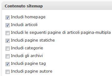 contenuto sitemap